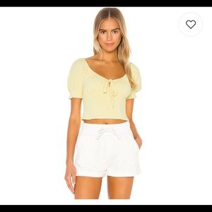 Privacy Please Yellow Crop Top